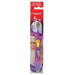 Colgate Барбі, Зубна щітка дитяча світло-рожева, 5+ років, 1 шт., блістер