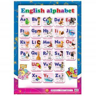 Ранок Плакат английский алфавит