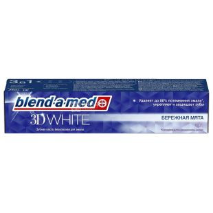 Blend-a-med 3D White Бережна М'ята, Зубна паста, 100 мл