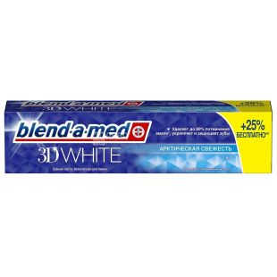 Blend-a-med 3D White Arctic Freshness, Toothpaste, 125 ml