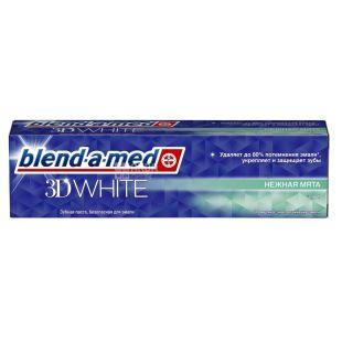 Blend-a-med 3D White Трехмерное отбеливание, Зубная паста, 100 мл, картон