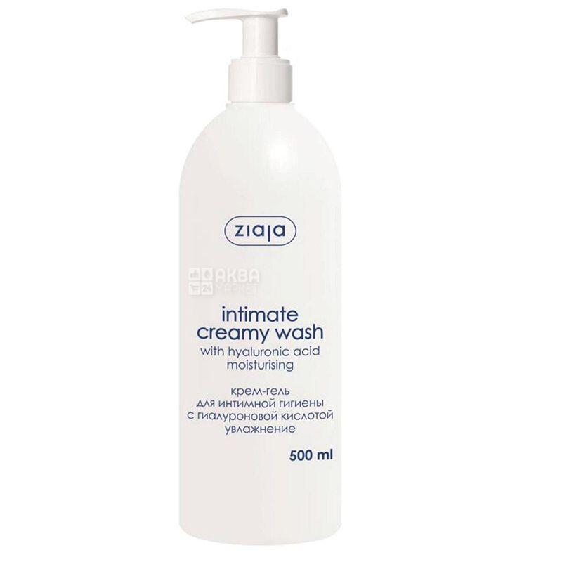 Крем-гель Ziaja Intimate Creamy Wash, для интимной гигиены, 500 мл