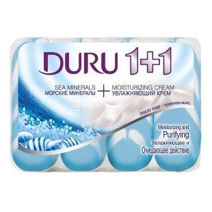 Duru Soft Sensations Морські мінерали, Мило туалетне, 4х90 г