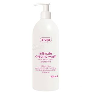Крем-гель Ziaja Intimate Creamy Wash Захист, для інтимної гігієни, 500 мл