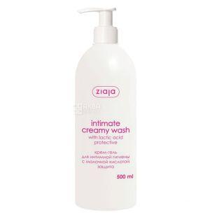 Крем-гель Ziaja Intimate Creamy Wash Защита, для интимной гигиены, 500 мл