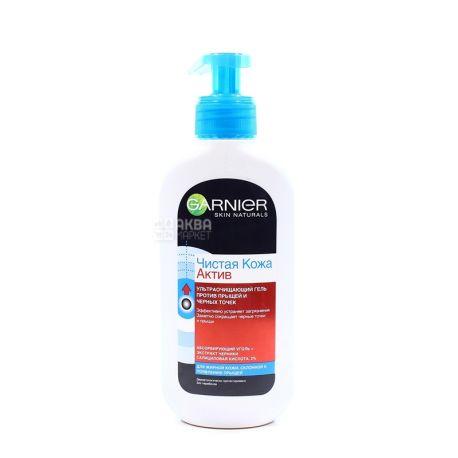 Garnier Gel Pure Skin Active Ultra Purifying Facial, 200 ml