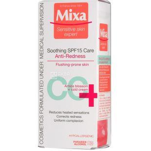 Крем Mixa Soothing SPF15 Care Против Покраснения, СС-крем, 50 мл