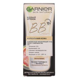 Крем Garnier ВB Сream 5в1, молочно-бежевый, 50 мл