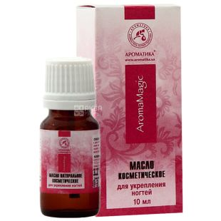 Cosmetic oil for nail strengthening, Aromatika, 10 ml