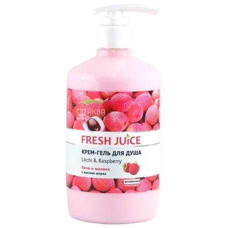 Fresh Juice Litchi & Raspberry, Крем-гель для душа, 750 мл