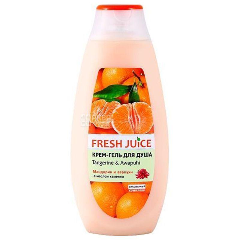 Fresh Juice Tangerine&Awapuhi, Крем-гель для душа, 400 мл