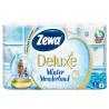 Zewa Delux Winter Wonderland, 8 рул., Туалетная бумага Зева Делюкс, Зимняя Коллекция, 3-х слойная