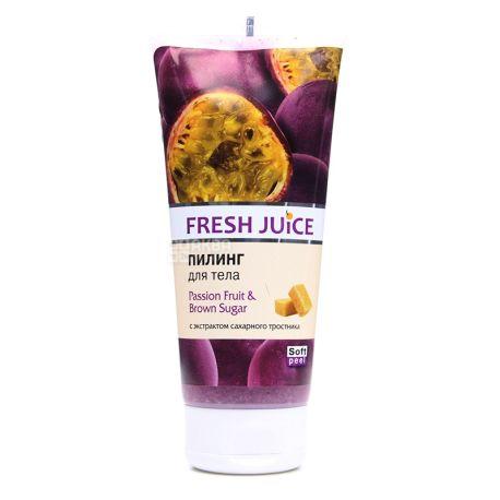Пилинг Fresh Juice Маракуйя и Коричневый Сахар, 200 мл
