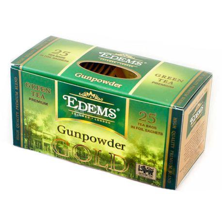 Edems Gunpowder Gold Чай зеленый пакетированный, 25+3 шт по 2г