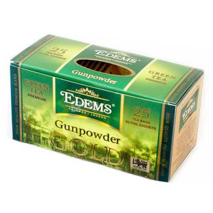 Edems, Gunpowder Gold, 25 пак., Чай Едемс, Ган Паудер, зелений