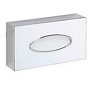 Диспенсер для косметических салфеток хромированный, 52х240х125 мм, металл