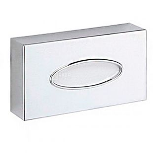 Dispenser for cosmetic wipes chrome-plated, 52x240x125 mm, metal