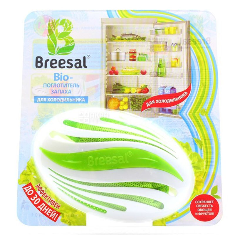 Breesal, Bio-absorber odor, For the refrigerator, 80 g