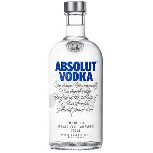Absolut, Vodka, 40%, 0.7 l