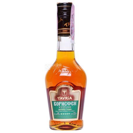 Таврия Borisfen, Коньяк 5 звездочек, 0,25 л, Стеклянная бутылка