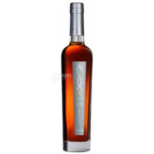 Alexx Silver 4 *, brandy, 0,5l, glass bottle, tuba