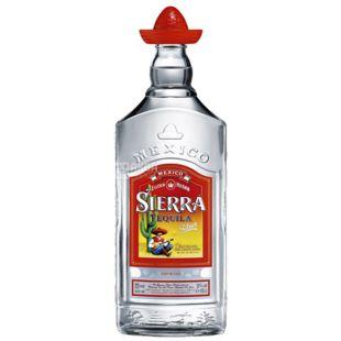 Текила Sierra Silver 1 л, 38%, прозрачная