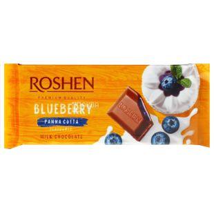 Roshen, Шоколад молочний з начинкою чорнична панакота, 90г, м/у