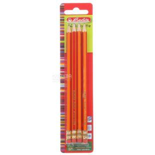 Pencils Herlitz Scolair, black lead, HB, 4 pcs.