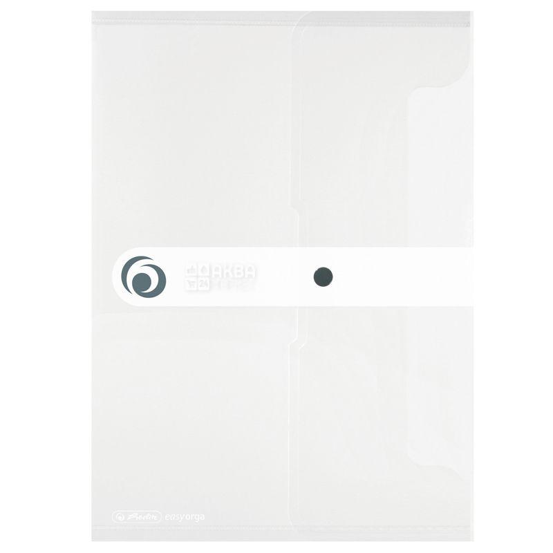 Herlitz, Папка на кнопці, А4, 200 мкм, Безбарвна, Напівпрозора