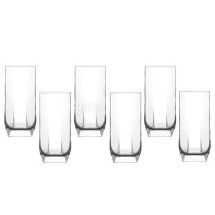 Набір склянок Туана для напоїв, 330 мл, скло, 6шт