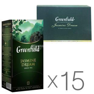 Greenfield Jasmine Dream, Green Packed Tea, 25 pcs, pack 15 pcs
