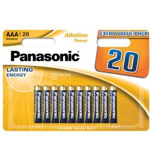 Panasonic Alkaline Power AAA BLI 20, Batteries, 20 pcs
