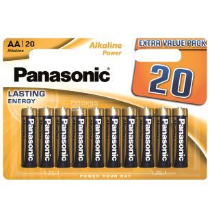Panasonic Alkaline Power AA BLI 20, Batteries, 20pcs
