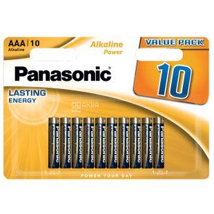 Panasonic Alkaline Power AAA BLI 10, Batteries, 10pcs