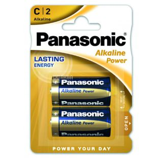 Panasonic Alkaline Power C BLI 2, Batteries, 2pcs