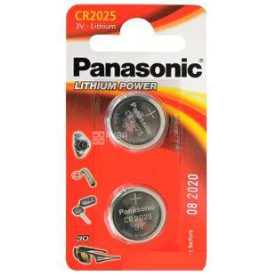 Panasonic CR 2025 BLI 2, Lithium batteries, 2 pcs