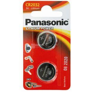 Panasonic CR 2032 BLI 2, Батарейки литиевые, 2шт
