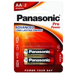 Panasonic Pro Power AA BLI 2, Батарейка алкалиновая, 2 шт