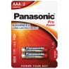 Panasonic Pro Power AAA BLI 2, Батарейка алкалінова, 2 шт