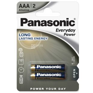 Panasonic Everyday Power AAA BLI 2, Battery alkaline, 2 pcs