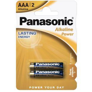 Panasonic Alkaline Power AAA BLI 2 batteries