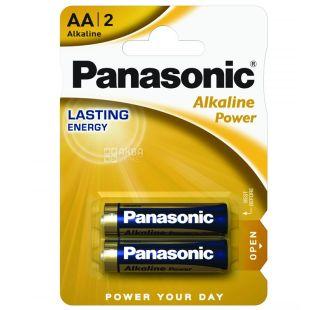 Panasonic Alkaline Power AA BLI 2 batteries
