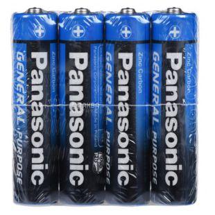 Batteries Panasonic GENERAL PURPOSE zinc carbon R3 TRAY 4