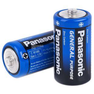 Батарейки Panasonic GENERAL PURPOSE цинк-карбон R14 TRAY 2