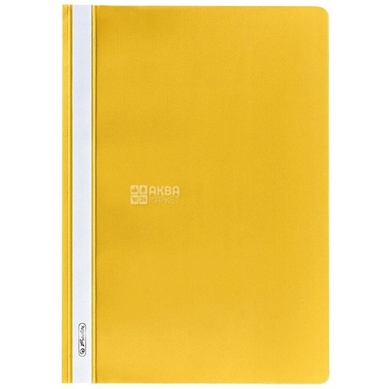 A4 folder, yellow with transparent top, Herlitz (Herlits), 130 / 160mkm