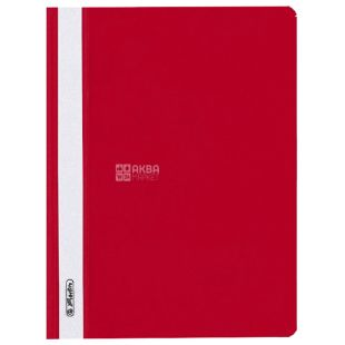 A5 folder folder, red with transparent top, Herlitz (Herlits), 130 / 160mkm