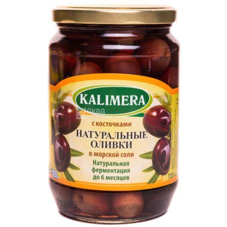 Kalimera, Оливки черные натуральные целые, 720 г