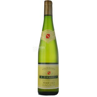 A.Zirnhelt Pinot Gris, Вино белое полусладкое, 0,75 л