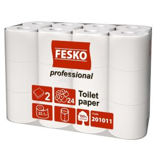 Fesko Professional, 24 рул., Туалетная бумага Феско Профешнл, 2-х слойная