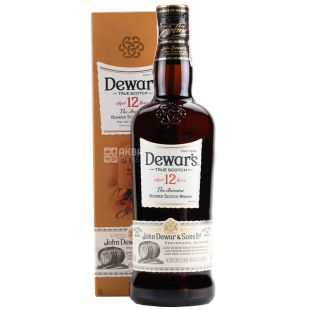 Виски Dewar's 12 лет 40% в коробке 0,7 л